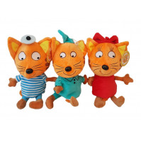 KARAMELKA, KORZHIK AND COMPOTE THE CAT SOFT TOY FROM 3 CATS CARTOON