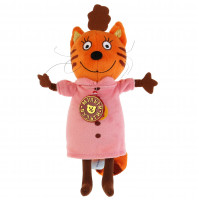"""Mamma the Cat soft Toy from """"3 cats"""" cartoon series with russian chip"""