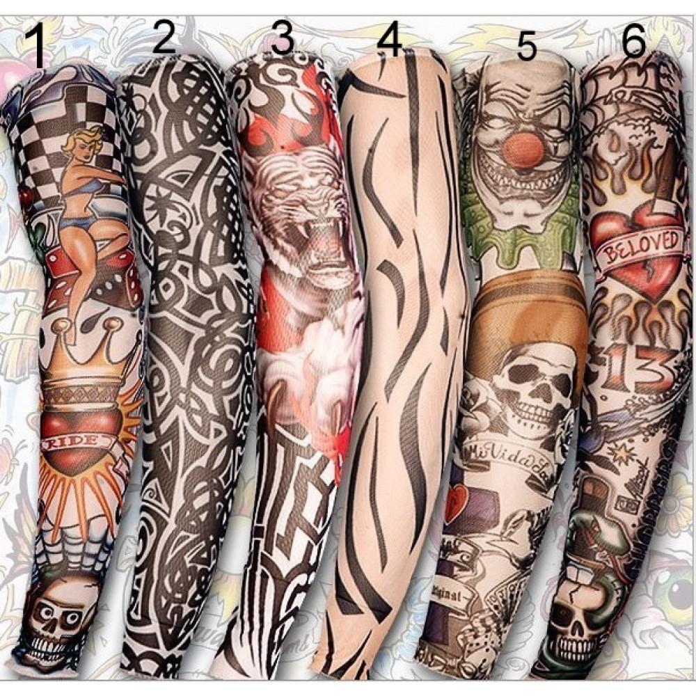 Unisex Women Men Temporary Fake Slip On Tattoo Sleeve