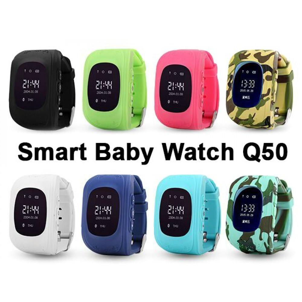 Original Wonlex Smart Watch Kids Tracker Baby Q50 with GPS