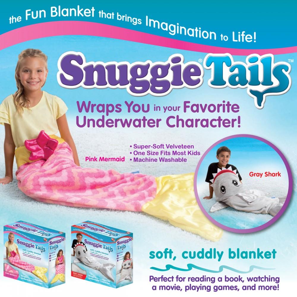 Snuggie Tails Children Blanket  - Mermaid or Gray Shark