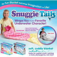 Snuggie Tails Children Blanket  - Mermaid or Gray Shark