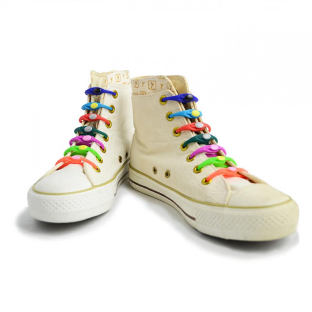 Силиконовые шнурки-клипсы для обуви