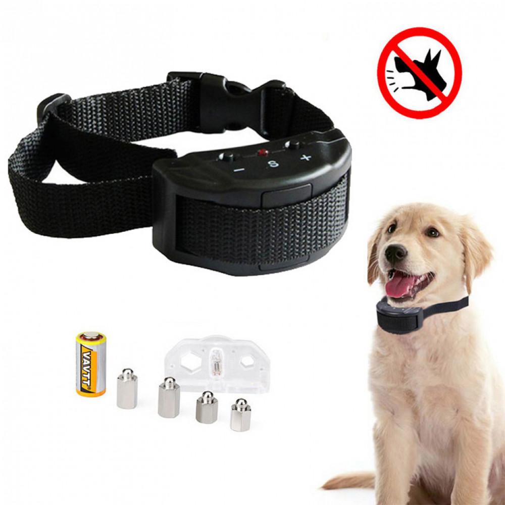 Dog anti bark stun vibration collar