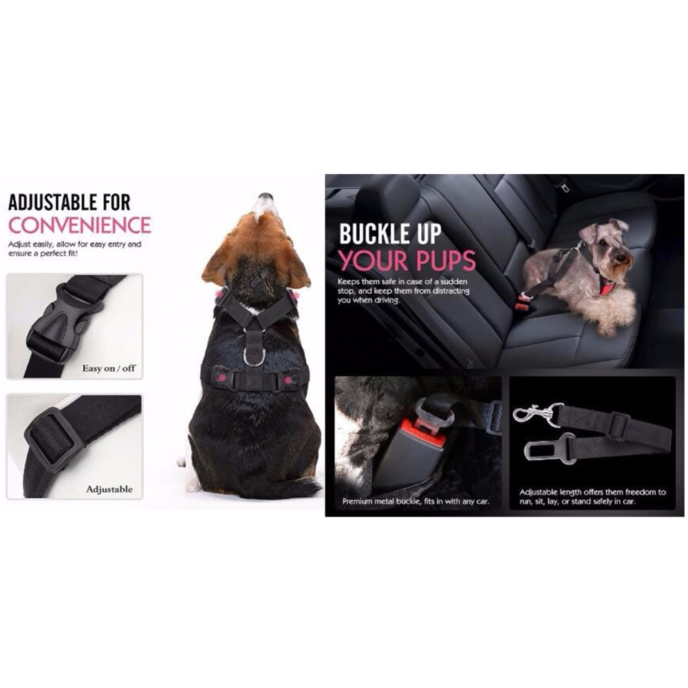 Auto Dog Car Harness Safety Belt for Dogs Car Seat Belt Strap