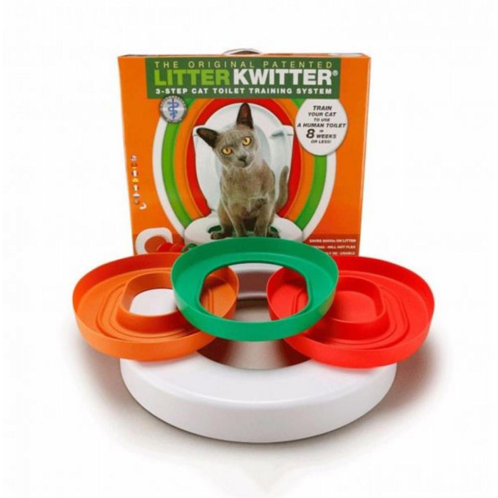 Litter Kwitter kaķu pierunāšanas tualetē sistēmas NOMA - apmāciet savu kaķi tualetei