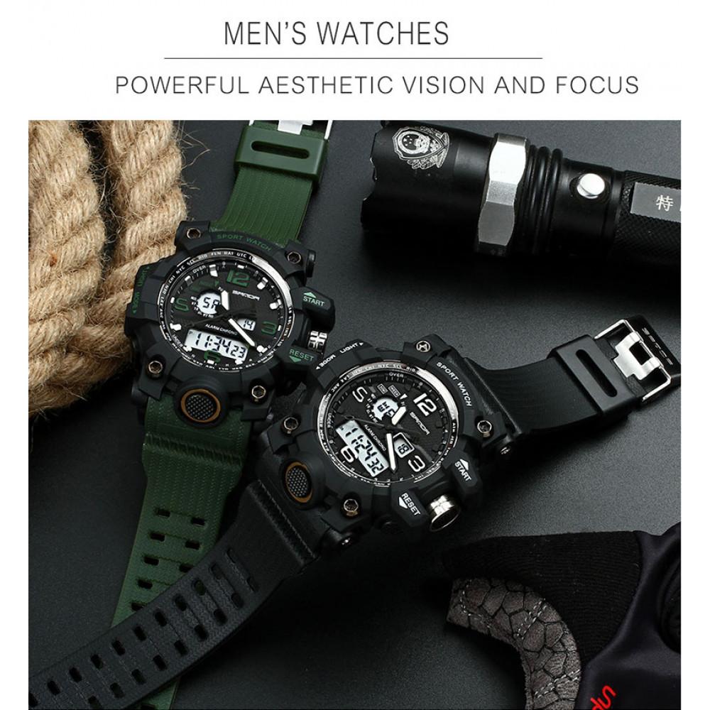 Stilīgs vīriešu rokas pulkstenis 7 in 1
