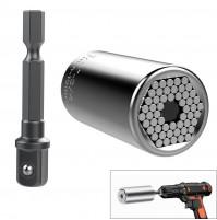 Gator Grip Universal Socket, 2 kit: Gator grip socket adapter 7-19 mm  and 3/8 inch Drill Adapter