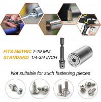 Gator Grip Universal Socket, 3 kit: : 90°corner drill adapter, 3/8 inch drill handle, Gator Grip key 9-17 mm