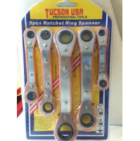 5 pcs ratched ring spanner