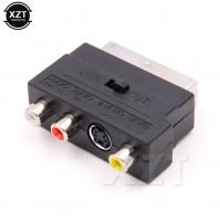 RGB Scart pāreja uz kompozīita RCA tulpēm un S-Video AV TV savienošanai