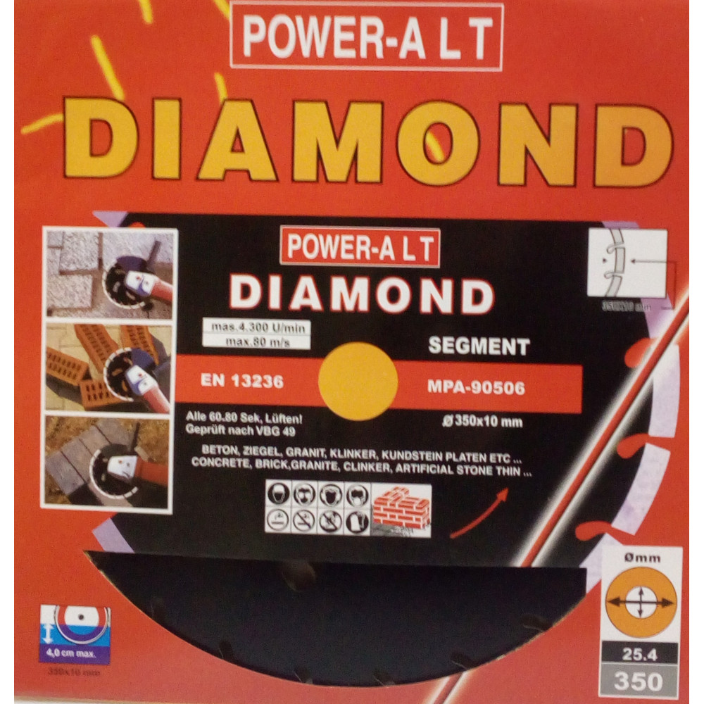 DIAMOND BLADE FOR CONCRETE  350X25.4 MM