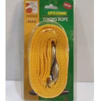Steel or nylon car tow rope