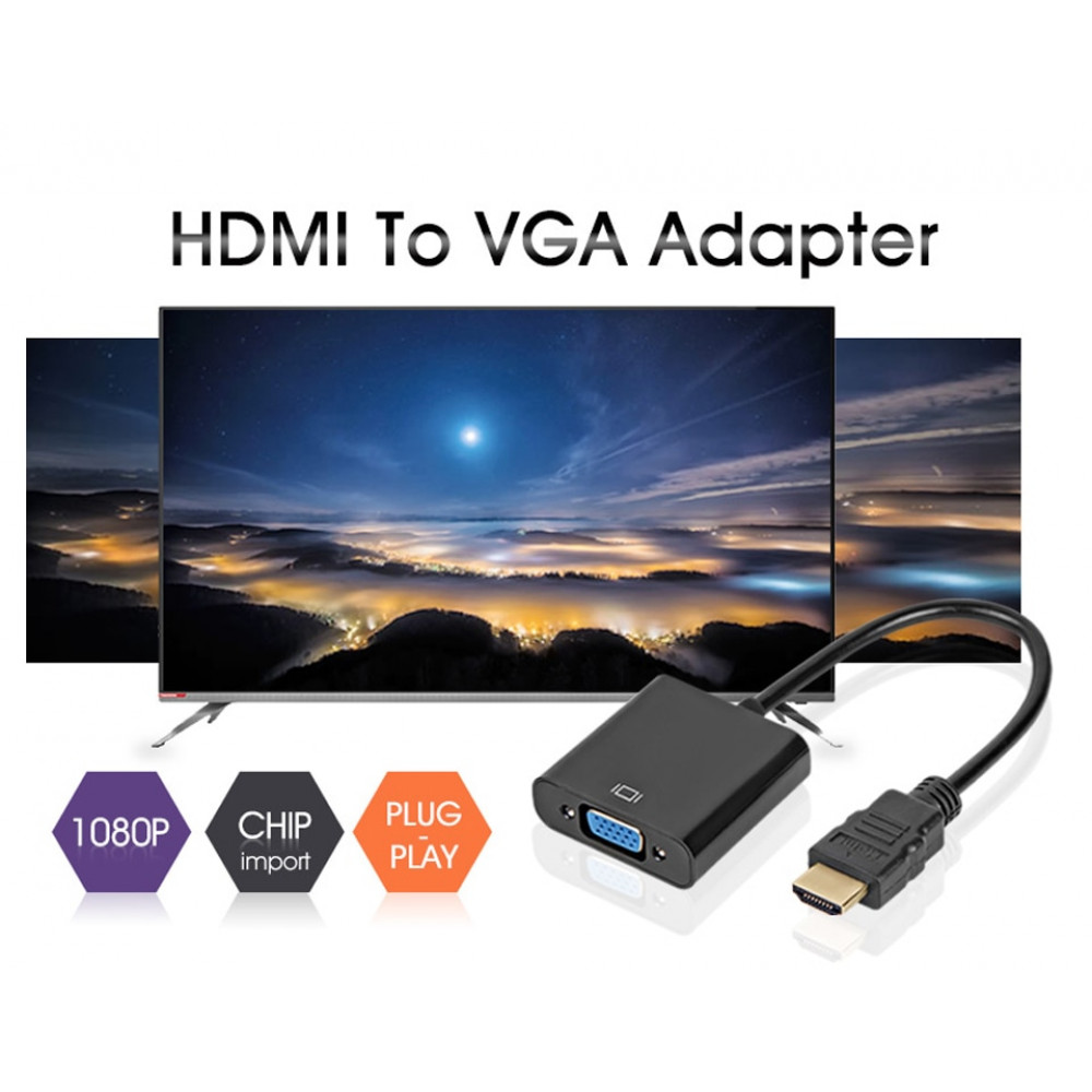Adapteris / parēja VGA female uz HDMI male