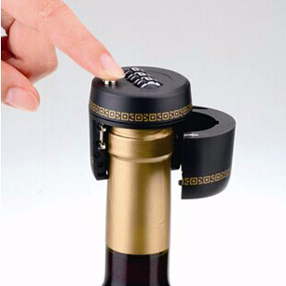 Creative number code red wine bottle mouth lock