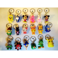 Cartoon Heroes Keychain