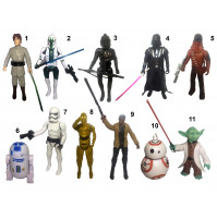 Different statuettes from Star Wars