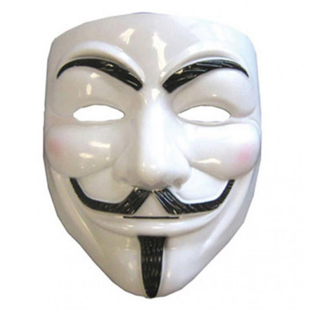 Guy hacker Fawkes Anonymous V for Vendetta maska anonim
