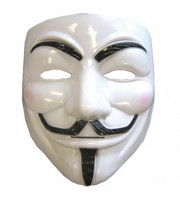 Guy hacker Fawkes Anonymous V for Vendetta maska anonim
