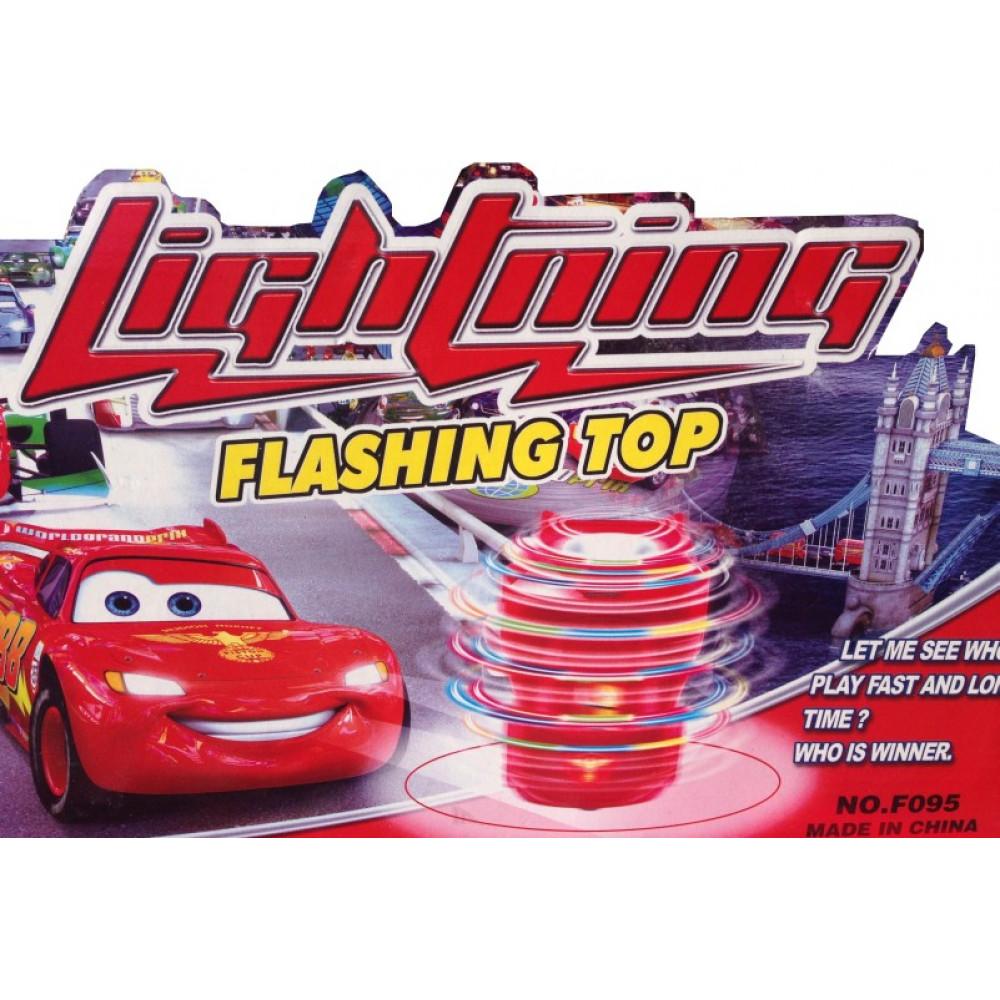 "McQuinn whirlgig car, peg-top toy ""Lightning"" from Cars cartoon"