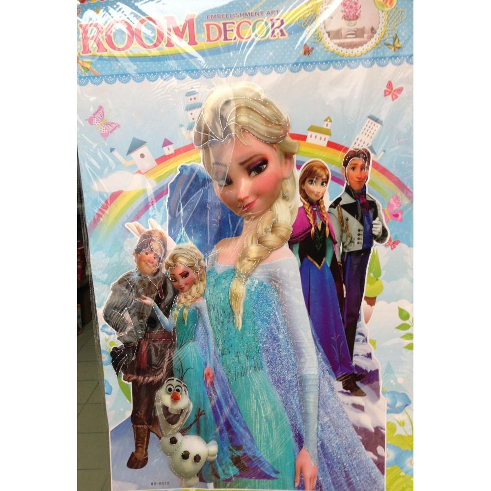 Bērnu Istabas sienas dekors - 3D uzlīme Frozen - Elza no Ledussirds
