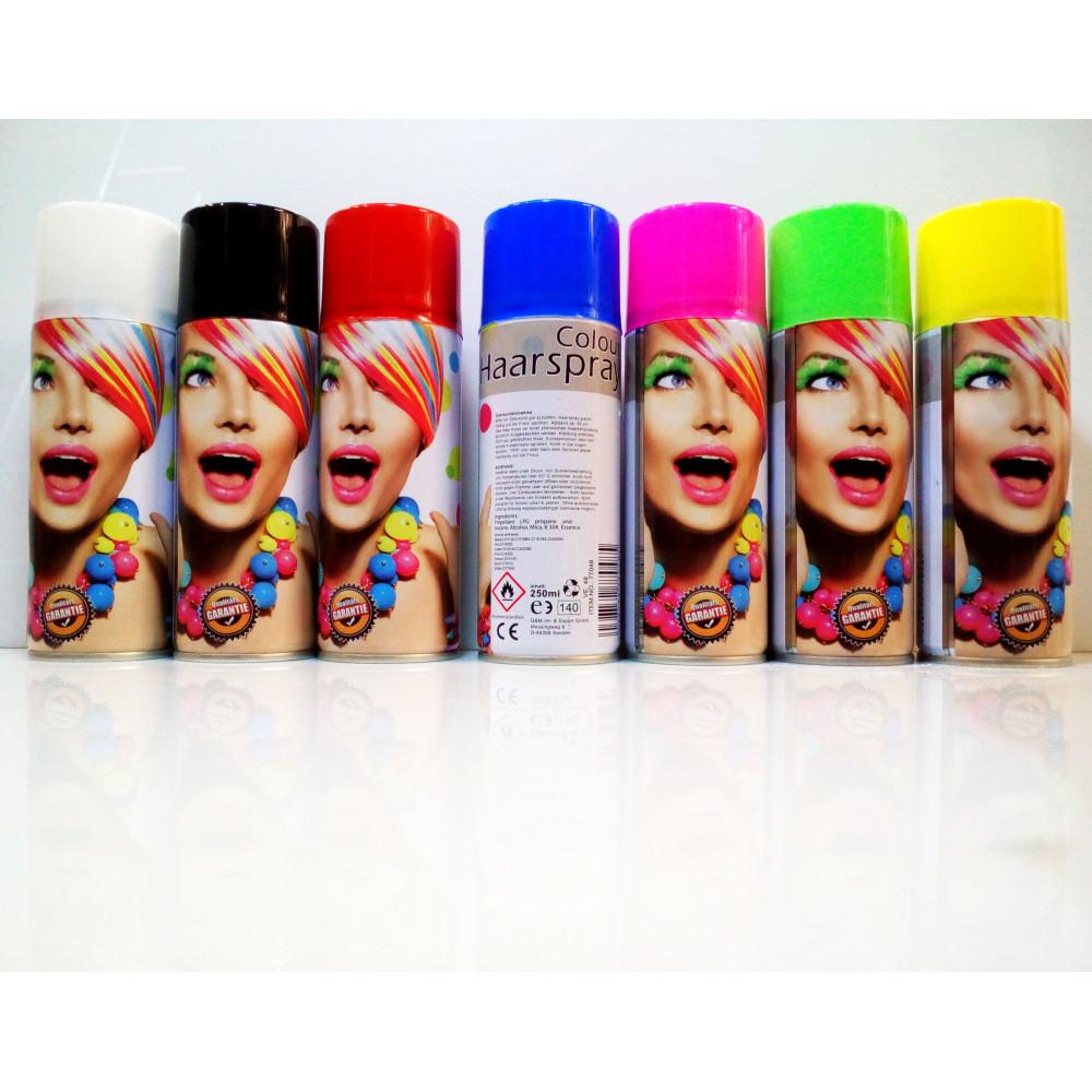 Spožu krāsu matu krāsošanas aerosols Haarspray