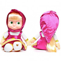 "Talking Masha doll, Bambola di Masha e l'Orso, from cartoon ""Masha and the Bear, 45 cm"