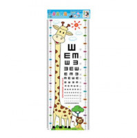 Height Meter with sight test - Children room wall sticker decall decor