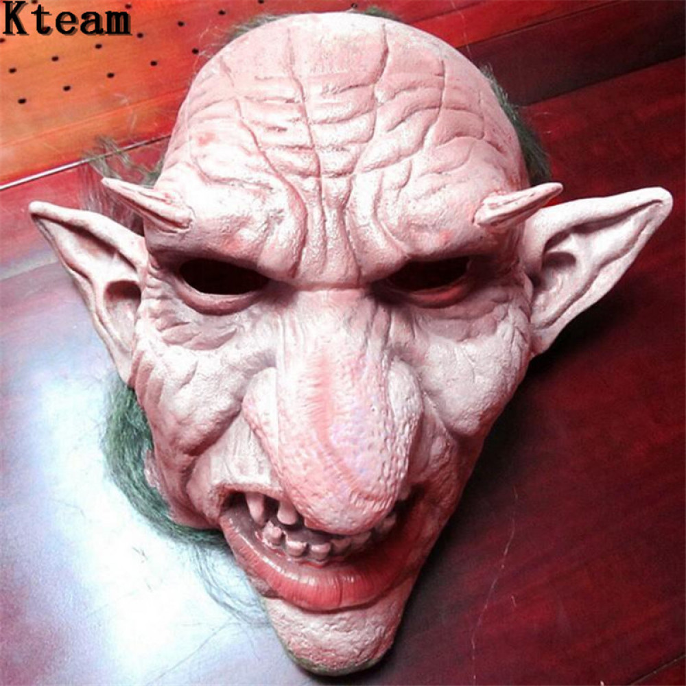 Creepy Earied Goblin Face Mask