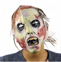 Green Goul Zombie Latex Face Mask