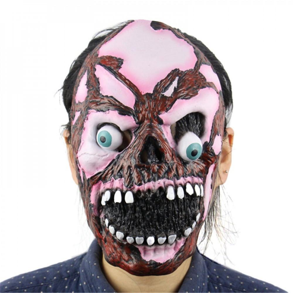 Rozā Goula Zombija maska