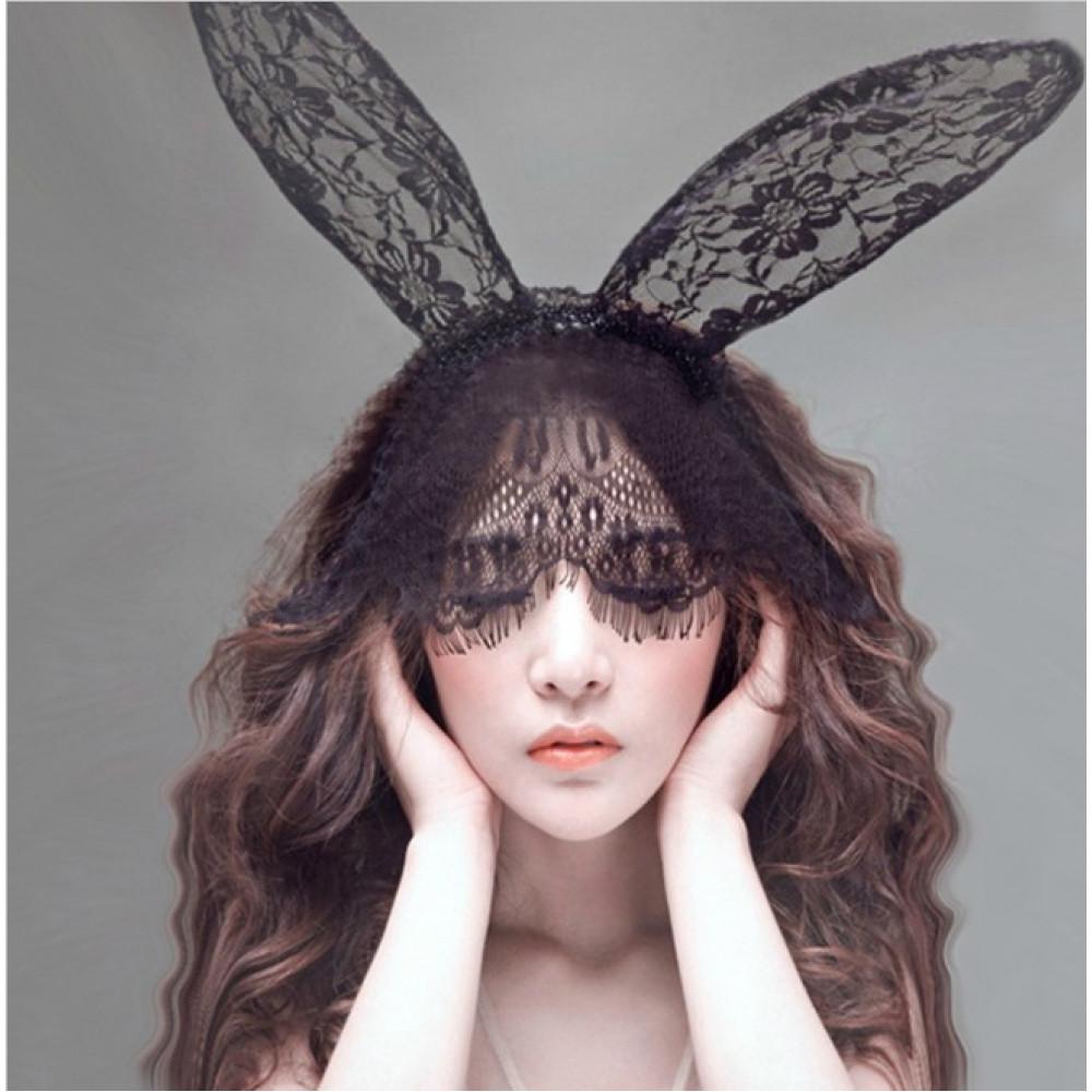 Mežģīņu Playboy zaķa - trusīša maska
