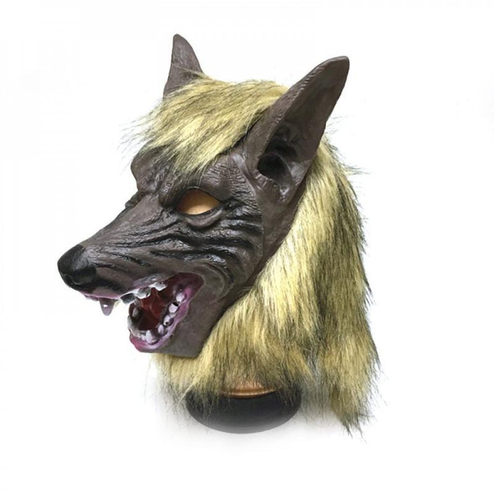 Creepy Full Face Werewolf Latex Mask and Wolf Claws Theater Prank Prop Crazy Masks Halloween Costume