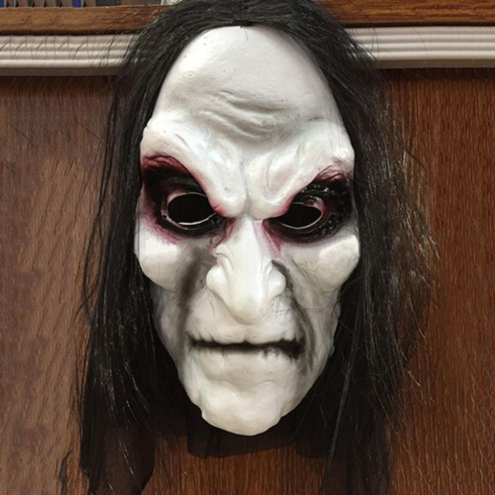 Baltas raganas hokeja maska