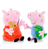 Soft toy Peppa, her brother George (Peppa Pig)