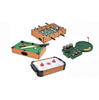 Table games of choice: football, hockey, billiard or golf