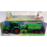Rotaļlieta traktors ar piekābi un palmu