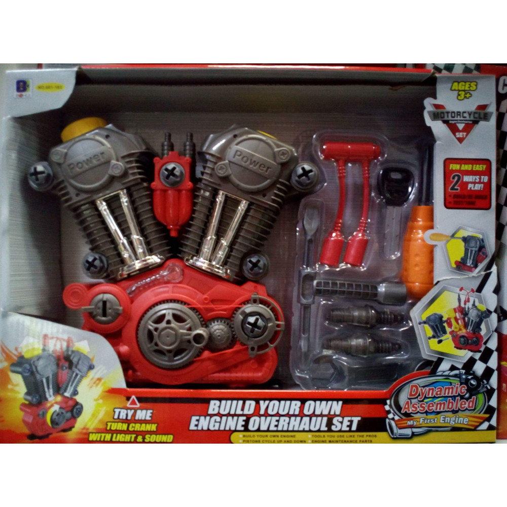 Young Biker's gift - V-twin engine building kit