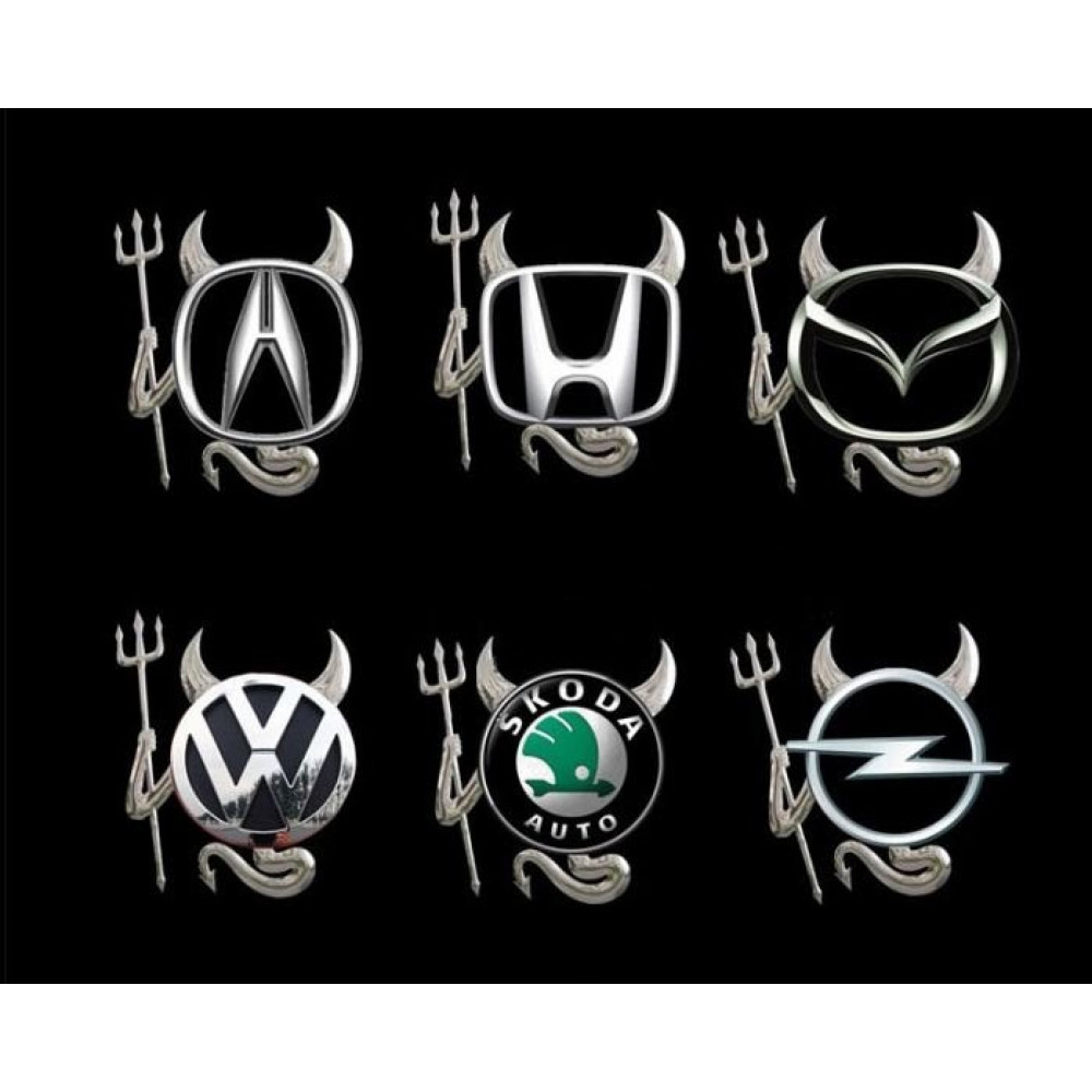 VW, BMW - Demon devil sticker decal