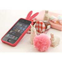 iPhone 4 / 4S maciņi ar zaķa ausīm un pūkainu ļipu