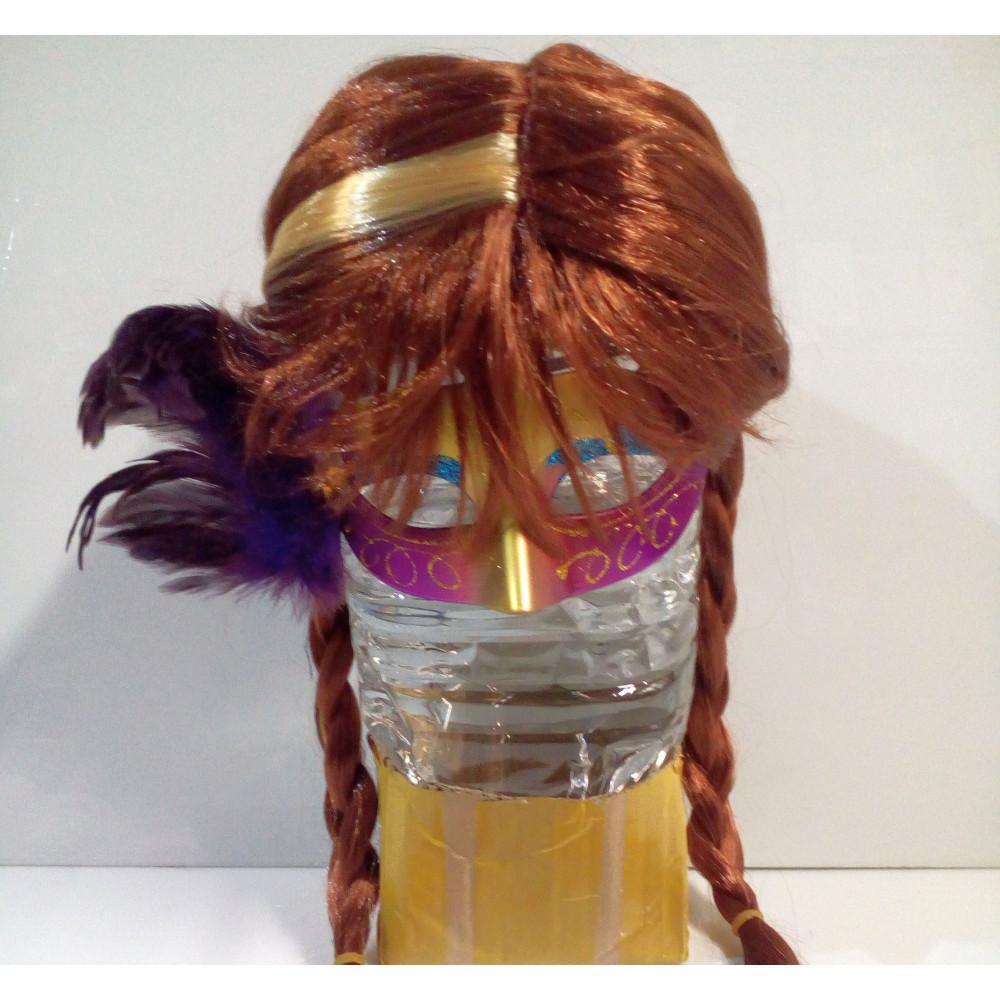 Sieviešu parūka ar spilgtas krāsas taisniem matiem