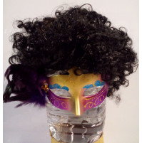 Female wig with curly, bright hair