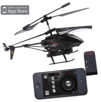 Wi-fi controlled helicopter with camcorder