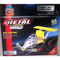 Educational metal constructor - machine, 68 parts, gift for girls and boys