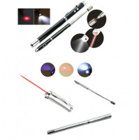 Pen with laser, flashlight, magnet and telescopic pointer