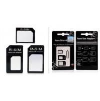 SIM kartes adapteris 3 vienā (nanoSIM / micro SIM/ SIM) 3in1 ar SIM-slota atslēgu
