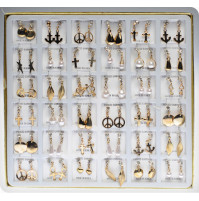 Stylish set of 36 pairs of earrings