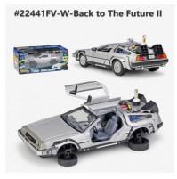 Collectible model of a DeLorean car, scale 1:24