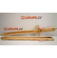 Childrens toy wooden sword with a scabbard - for a real little knight