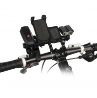 Additional holder - a tube for gadgets on the wheel of a bicycle or scooter